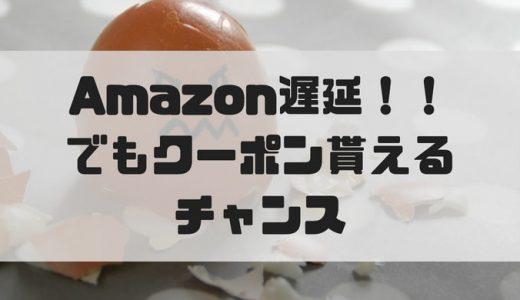 Amazonの注文が2度も配送遅延!!でもお詫びのクーポン貰えました。