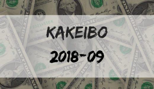 東京23区独身一人暮らしの収入・支出公開【家計簿報告】【2018年9月】【月次】