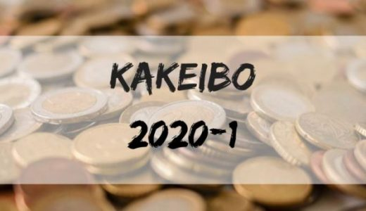30歳、東京1人暮らしビジネスマンの家計簿報告【2020年1月】