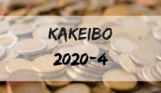 東京で自粛生活中の三十路・独身男の家計簿報告【2020年4月】